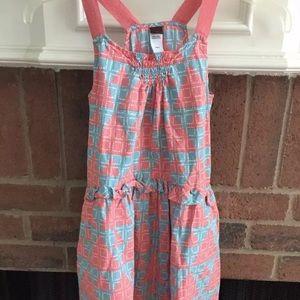 Tea Collection 8 Pink Geometric Sleeveless Dress